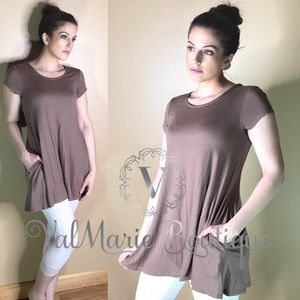 Mocha Pocket Tunic